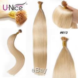 Fusion Cheveux Raides I Tip Memory Stick Tip Kératine Extension De Cheveux Humains Pré-liée 100g