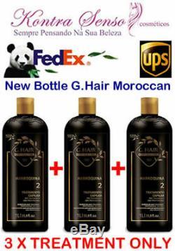 G. Cheveux Marocains Lissage Brésilien 3 X Traitement Uniquement. Livraison Gratuite Fedex Ou Ups
