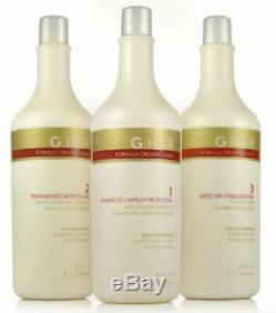 G-cheveux Allemand Progressif Brosse 3x1liter Kératine Brazilian