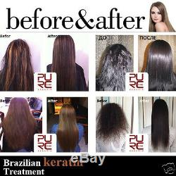 Gold Keratin Hair Straightener Ensemble De Traitement Dommages Brésiliens Blowout Dry Curly