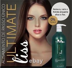Hanna Lee Ultimate Liss Traitement 1l Formaldéhyde Gratuit Premium Kératine Brésilienne