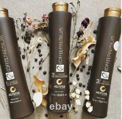 Honma Tokyo Coffee Premium Keratin Brésilien Traitement Capillil Redresseur 3 X 1l
