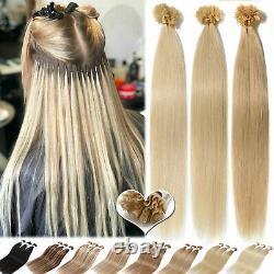 Hot 300pcs Fusion Pré Bondé Kératine Ongles U-tips Real Remy Extensions De Cheveux Humains