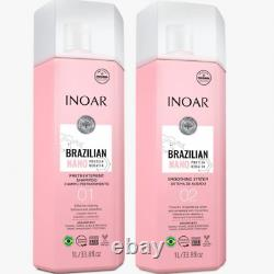 Inoar Brazilian Nano Protein Kératine (shampooing + Traitement) Kit 2l