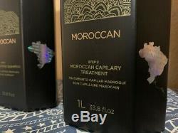 Inoar Brésilien Kératine Traitement Marocain Blowout Kit 33,8 Oz / Litre Exp 06/22