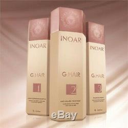 Inoar G. Hair - Kit De Traitement De Séchage Au Brushing À La Kératine Brésilienne 3 Litres