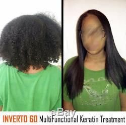Inverto 60 Traitement Des Cheveux Blonds Brésil Kératine 1000ml Set-formaldéhyde Gratuit