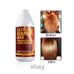 Keratin Brésilien 12% Formalin 1000ml Traitement Des Cheveux Avec Cheveux De Shampooing Purifiants