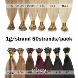 Keratin Cold Fusion Nano Micro Anneau Perles Nano Conseil Remy Cheveux Humains Extensions 1g