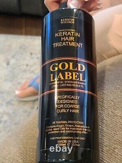 Keratin Gold Label Brazilian Blowout Trtmt Extra Strength 1000ml + Bonus Gratuit