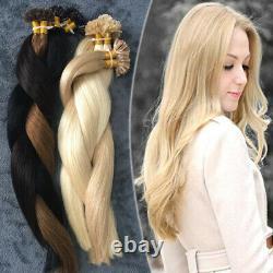 Keratin Pre Bonded Nail U Tip Real 100% Remy Extensions De Cheveux Humains Balayage Us