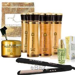 Kératine Brésilienne Cure Gold Honey Bio 0% De Traitement De Cheveux Complexe Kit De 9 Pièces 5 Oz