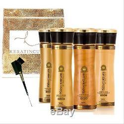 Kératine Cure Brésilienne Gold Honey Bio 0% Traitement Complexe Pour Cheveux 5 Oz 6 Pièces
