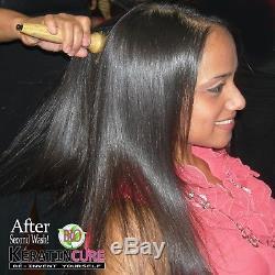 Kératine Cure Brésilienne Or Miel Bio Traitement Cheveux Raides Kit 5 Pc 10oz Ma