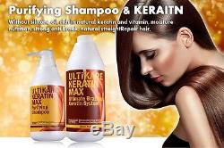 Kératine Du Traitement Brésilien 5% 1000 ML Purifiant Shampooing 500ml Redressage