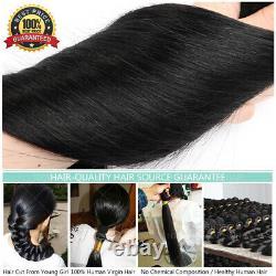 Kératine Fusion Pré-lié 100% Remy Human Hair U-tip Nail Extensions Capsule Us