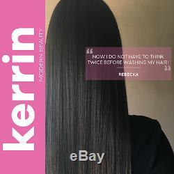 Kerrin Traitement Capillaire À La Kératine Pour Cheveux Brésiliens Blowout 1l + Ph Shampooing Purifiant 1l