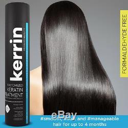 Kerrin Traitement Personnalisé À La Kératine Pour Les Cheveux, Lissage, Érosion, 1000 ML