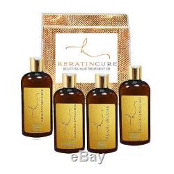 Kit De Traitement Capillaire Pour Cheveux Avec Protéine 0% De Miel Et De Protéine De Kératine Brésilienne Au Miel, 4 Oz