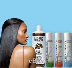 Kit De Traitement De Cheveux De Kératine Brésilienne Formule Complexe XL 1000ml USA Cheveux Étonnants