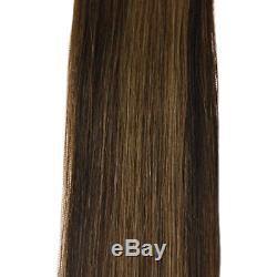 Laavoo 22 Pouces Double Trame Brésilien Kératine Human Hair Extensions Microbilles 50 G