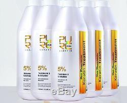 Le Traitement Brésilien Des Cheveux À La Kératine 5pcs Reçoit 1free 5% 1000ml Lissage Des Cheveux