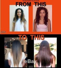 Le Traitement Éruption De Kératine Brésilienne Redresse Instantanément Les Cheveux Lisses 4 Pcs