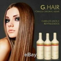 Lissage G-cheveux Allemand Progressif Brosse 3x1liter Kératine Brazilian
