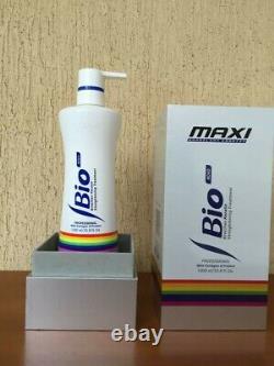 Maxi Bio Novo Kératine Brésilienne Traitement De Lissage Des Cheveux 1000ml/33.8 Fl Oz