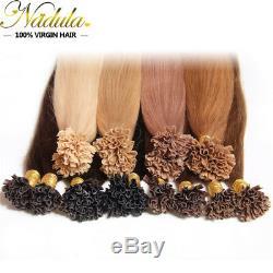 Nadula 100s / 200s Pré Collé Kératine Fusion Nail U Astuce Extensions De Cheveux Humains 1g / S