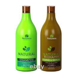 Natureza Cosmetics Traitement Brésilien Kératine Biotin 0% Formol 2 X 34oz