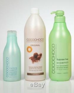 New Cocochoco Coffret De Traitements Capillaires Pro Pour Lissage À La Kératine Brésilienne Numéro 19