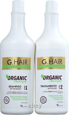Organic Therapy Volume Treatment Kit G-hair 2 X 1 L Kératine Brésilienne Ghair