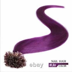 Pré Bondé Kératine U Conseil D'ongle Remy Cheveux Humains Extensions Thick Full Head100-200s