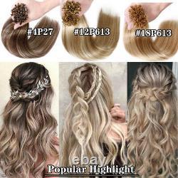 Pré Bonded Nail U Astuce Keratin Fusion Real Brésilien Extensions De Cheveux Humains Blonde