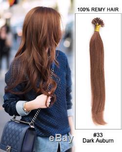 Pré Cautionné U / Nail Tip Kératine 100% Remy Hair Extensions Brésilien Human 16-26