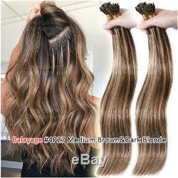 Pre Kératine Memory Stick I Bonded Astuce 100% Remy Hair Extensions Nano Humain Anneau Perle 1g