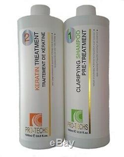 Pro-techs Traitement Des Cheveux Lissage Brésilien Pour Cheveux Blonds 1000ml 33,8