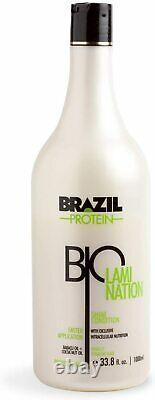 Protéine Bio Lamination Brésilienne 33,8 Fl. Oz. Redressement Organique Des Cheveux