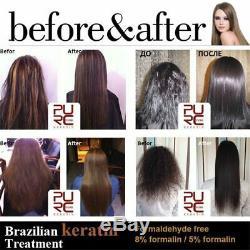 Purc 1000ml Formalin Réparation De Défrisant Pour Cheveux À La Kératine Brésilienne Endommagée Nouveau