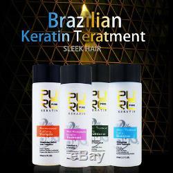 Pure Cheveux Brésiliens À La Kératine Lissant 5 Pcs 12% 1000ml Obtenez 1 Soin Des Cheveux Gratuit