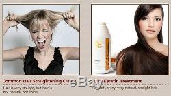 Pure Traitement De Cheveux À La Kératine Brésilienne Formalin 12% 1000ml + Shampooing 300ml Gift