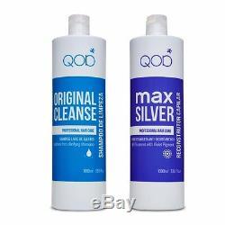 Qod Max Silver Kératine Brésilienne Lissage Cheveux 2- Kit 100% Formaldéhyde