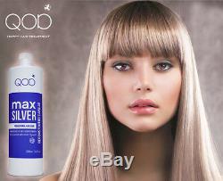 Qod Max Silver Kératine Brésilienne Redressement Capillairetraitement Formaldéhyde 1 L