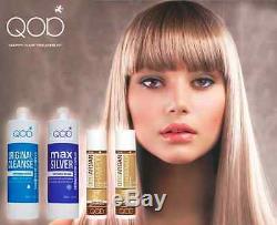 Qod Max Silver Kit De Lissage Cheveux Brésiliens À La Kératine 100% Formaldéhyde