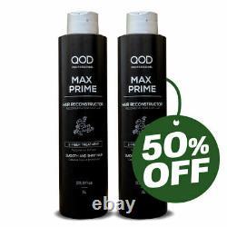 Qod Pro 2 Unités De Max Prime 50% De Réduction Dans La 2e Bouteille Brésilienne Traitement À La Kératine