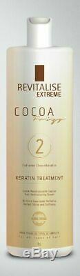 Revitaliser Brésilien Kératine Cacau Étape 2 1000ml / Free 150ml Gel Abus D'alcool
