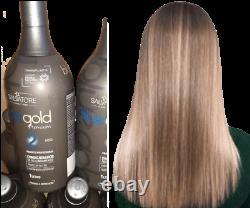 Salvatore Keratin Brésilien Hair Treatment Kit 1l Tanino Blue Gold
