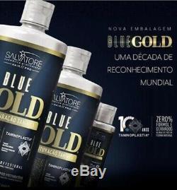 Salvatore Keratin Traitement Redresseur Brésilien En Or Bleu 2 X 1000 ML