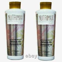 Soller Agi Max Nutrimax Traitement Des Cheveux Kératine Brésilienne Blowout Kit Complet 3x1l